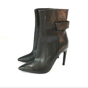 Jeffrey Campbell pointed toe leather heel boots